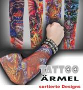 FRIES - Tattoo-Ärmel, sort. Designs