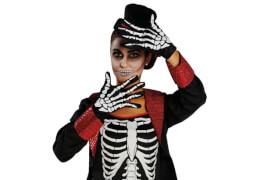 Skeletthandschuhe, Karnevalskostüm