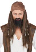 Caribbean Pirate Perücke, Kostüm