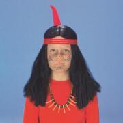 Indianer-Junge Perücke
