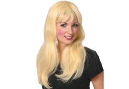 Pony Peruecke blond, Kostüm Zubehör