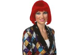 Peruecke Lola rot, Kostüm Zubehör