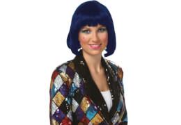 Peruecke Lola blau, Kostüm Zubehör