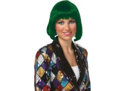 Peruecke Lola grün, Kostüm Zubehör