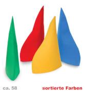 Zwergenmuetze, Filz, farblich sortiert, Gr. 58 cm