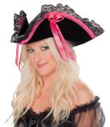 Piraten-Lady schwarz-pink schw-pink STD