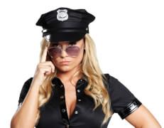 Police Cap schwarz 57