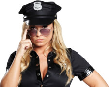 Police Cap schwarz 59