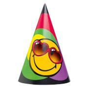 6 Partyhütchen Smiley Express Yourself