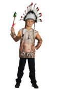 Kostüm Indianer Shirt Gr.128, Karneval