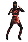 Kostüm Ninja Kriegerin Gr.38, Karneval