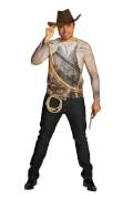 Kostüm Cowboy Shirt Unisex Gr.XL