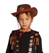 Cowboyhut braun Kinder 54