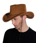 Cowboyhut Wildlederoptik, Karnevalskostüm Zubehör