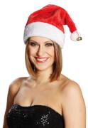 Weihnachtsmütze Samt mit Glöc