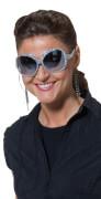 Brille Star Silber silber STD, Kostüm Zubehör