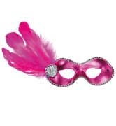 Domino mit Feder pink