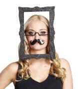 Rubies Brille Bilderrahmen mit Schnurrbart