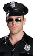 Rubies Polizeibrille, verspiegelt, Karnevalskostüm