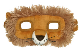 Plüschmaske Löwe Lustige Tierparade