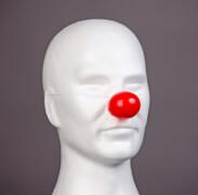 Hartplastik-Clownnase, rot
