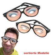 FRIES - Scherz-Brille, sort. Designs