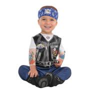 Kinderkostüm Baby Biker 6-12 Monate