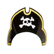 8 Piraten-Hütchen