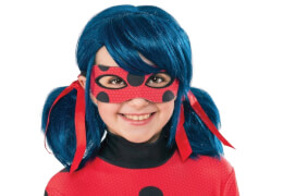 Miraculous Ladybug Wig -Child Perücke, Kostüm