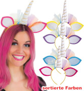 Haarreif Einhorn, farblich sortiert
