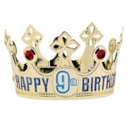 Krone Happy Birthday personalisierbar Plastik 9,5 cm