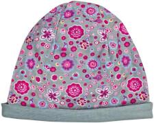 Mütze Blumen/uni grey (4)