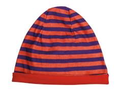 Mütze Streifen lila-orange(4)