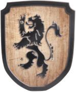 Schild braun Löwe