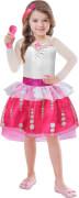 Kinderkostüm Barbie Rock & Royals mit Mikrofon S