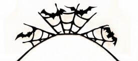 Papier-Wimpern, Halloween - schwarz