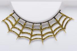 Wimpern, Gold Spiderweb