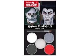 Aqua-Schminkset Dracula/Tod schwarz/weiß/grau/rot