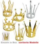 Kronen, 6 sortierte Modelle, einzeln in Klarsichtbox