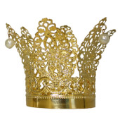 Krone mit Perlen gold