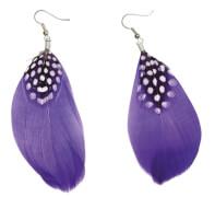Ohrringe Federn lila