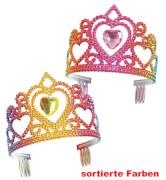 FRIES - Diadem Regenbogen, mit haengendem Herz, farblich sortiert