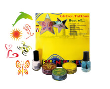 Glitzer Tattoo-Set - Best of (XL)