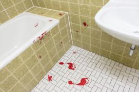 Aufkleber Blutspuren