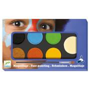 Kinderschminken: Palette 6 Farben - Natur *