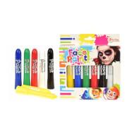 TOITOYS Gesichts-Kreide_Farbe 'Paint your face' -6 Farben