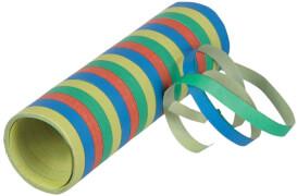 Luftschlange Streifen 0,7 x 400 cm, Karneval Zubehör