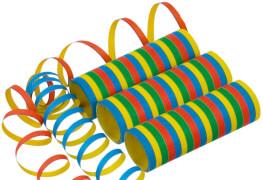 Luftschlange Streifen schwer entflammbar 0,7 x 400 cm