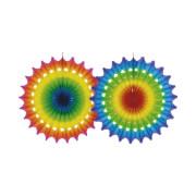 Deko-Fächer multicolor schwer entflammbar 50 cm