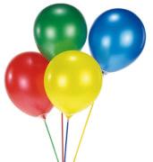 15 Ballonstäbe aus Plastik sortiert